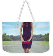 Woman On Street Weekender Tote Bag