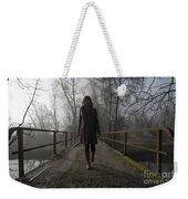 Woman Walking On A Bridge Weekender Tote Bag