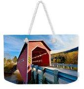 Wooden Covered Bridge  Weekender Tote Bag