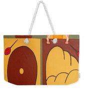 2 Worlds Weekender Tote Bag by Patrick J Murphy