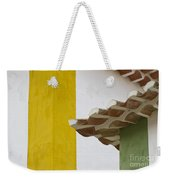 Yellow And Green Lines To The Roofs Weekender Tote Bag