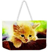 Yellow Kitten Weekender Tote Bag