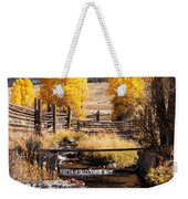 Yellowstone Institute In Lamar Valley In Yellowstone National Park Weekender Tote Bag