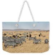 Zebra Migration Maasai Mara Kenya Weekender Tote Bag