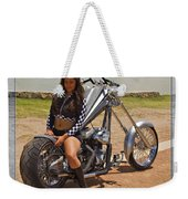Models And Motorcycles Weekender Tote Bag