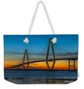 Arthur Ravenel Jr. Bridge At Sunset Weekender Tote Bag