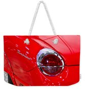 2002 Red Ford Thunderbird-rear Left Weekender Tote Bag