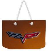 2007 Chevrolet Corvette Indy Pace Car Emblem Weekender Tote Bag