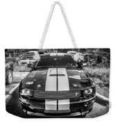 2007 Ford Mustang Shelby Gt500 Painted Bw  Weekender Tote Bag