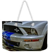 2008 Ford Mustang Shelby Grill Headlight Weekender Tote Bag