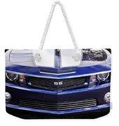 2012 Camaro Blue And White Ss Camaro Weekender Tote Bag