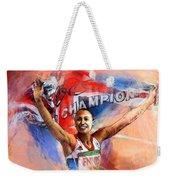 2012 Heptathlon Olympics Gold Medal Jessica Ennis  Weekender Tote Bag