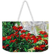 2013 010 Poinsettias And Dots Conservatory At The Us Botanic Garden Washington Dc Weekender Tote Bag