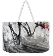 2013 058 Tree And Ladder Alexandria Virginia Silver Black White Red Weekender Tote Bag