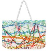 2013 Abstract Drawing #7 Weekender Tote Bag