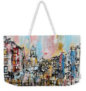 2014 23 City Street With Church At Sunset Srpsko Sarajevo Weekender Tote Bag