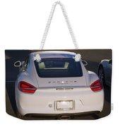 2014 Porsche Cayman White Weekender Tote Bag