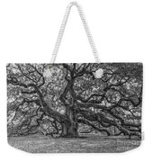 Angel Oak Tree In Black And White Weekender Tote Bag