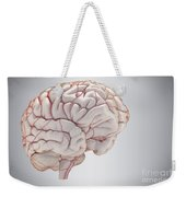 Brain With Blood Supply Weekender Tote Bag