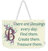 223- Blessings Weekender Tote Bag