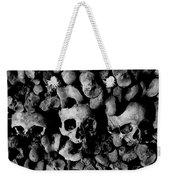 Skulls And Bones In The Catacombs Of Paris France Weekender Tote Bag