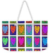 24 Hearts In A Box Weekender Tote Bag