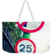 25 Mph Road Sign Weekender Tote Bag