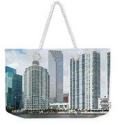 Skyscrapers At The Waterfront Weekender Tote Bag