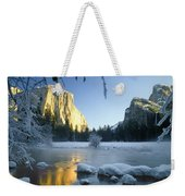 2m6538-yosemite Valley In Winter Weekender Tote Bag