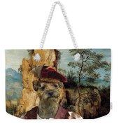 Border Terrier Art Canvas Print  Weekender Tote Bag