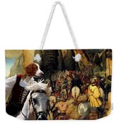 Welsh Springer Spaniel Art Canvas Print Weekender Tote Bag