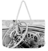 1933 Pontiac Steering Wheel -0463bw Weekender Tote Bag