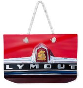 1949 Plymouth P-18 Special Deluxe Convertible Emblem Weekender Tote Bag by Jill Reger