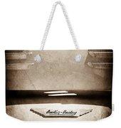 1956 Austin-healey 100m Bn2 'factory' Le Mans Competition Roadster Hood Emblem Weekender Tote Bag