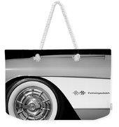1957 Chevrolet Corvette Wheel Emblem Weekender Tote Bag