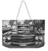 1960 Cadillac Eldorado Biarritz Convertible Painted Bw Weekender Tote Bag