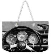 1961 Alfa Romeo Giulietta Spider Steering Wheel Emblem -1185bw Weekender Tote Bag