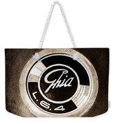 1962 Ghia L6.4 Coupe Emblem Weekender Tote Bag