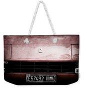 1972 Ferrari 365 Gtb-4a Grille Emblem Weekender Tote Bag