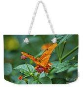 3 2 1 Prepare For Butterfly Liftoff Weekender Tote Bag