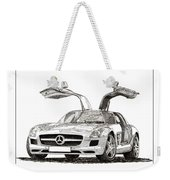 Gull Wing Mercedes Benz S L S Gull-wing Weekender Tote Bag