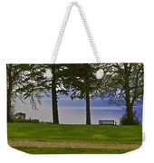 A Bench And Path On The Shore Of Loch Ness In Scotland Weekender Tote Bag