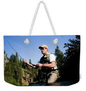 A Fly-fisherman In The Truckee River Weekender Tote Bag
