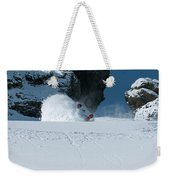 A Male Snowboarder Makes A Series Weekender Tote Bag