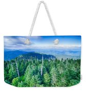 A Wide View Of The Great Smoky Mountains From The Top Of Clingma Weekender Tote Bag