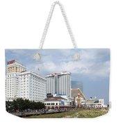 Aerial Of Downtown Atlantic City Weekender Tote Bag