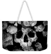 Altered Image Of Skulls And Bones In The Catacombs Of Paris France Weekender Tote Bag