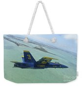 An Fa-18 Hornet Of The Blue Angels Weekender Tote Bag