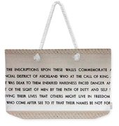 Anzac Day 2014 Auckland Weekender Tote Bag