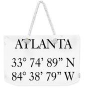 Atlanta Coordinates Weekender Tote Bag